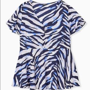 Torrid size 1 peplum blouse
